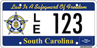 FOP license plate